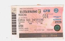 54187 Biglietto stadio - Palermo Modena - 2001/2002
