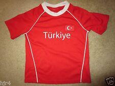 Turkey Turkiye Football Soccer Jersey Toddler M 5-6 6T 110-116 cm