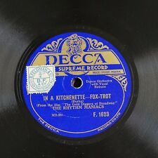 78rpm THE RHYTHM MANIACS in a kitchenette / tip-toe through the tulips