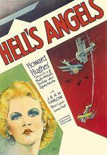 Film  Hells Angels Howard Hughes  Classic  Poster Print