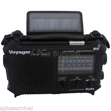 Kaito KA500 Voyager Solar Crank Battery Shortwave Emergency NOAA Radio & Charger