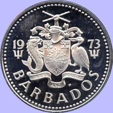 1973 Barbados 5 Dollar Silver Coin (31.1 Grams .800 Silver)