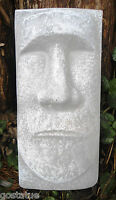 Tiki face plastic mold garden plaster concrete casting tropical