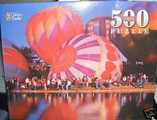 """500pc Golden Books Puzzle Hot Air Balloons 14""""x19"""" New"""