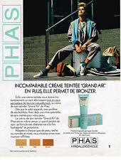 PUBLICITE ADVERTISING 054  1986  PHAS   cosmétiques  GRAND AIR