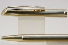 Vintage Waterman CF Lined Gold Plate Ballpoint Pen with Gold Trim