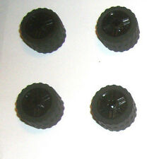 (4) Black Technic Wheels 30648 55982 LEGO 8864 8161 5985 60083 5974 7674 8159