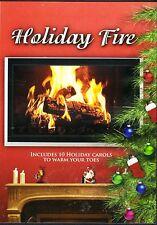 HOLIDAY FIRE: VIRTUAL CHRISTMAS FIREPLACE DVD w/SOUNDS & MUSIC + BONUS CAMP FIRE