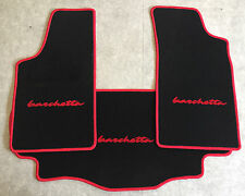 Autoteppich Fußmatten Kofferraum Set für Fiat Barchetta schwarz rot 3teilig Neu