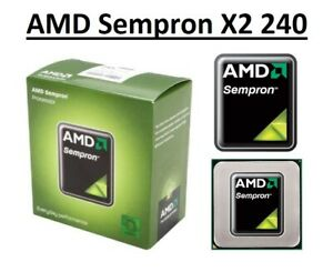 AMD Sempron X2 240 Dual Core Processor 2.9 - 3.3 GHz, Socket FM2, 65W CPU
