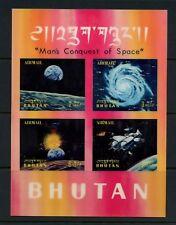 Bhutan 1970 #108O space plastic sheet MNH M386