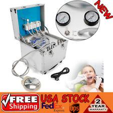New listing Dental Unit/System Metal Mobile Portable Delivery Rolling Case 4H+Air Compressor
