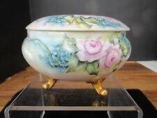 Deckeldose Deckelvase Vase  Jugendstil Viena Austria teilw. handgemalt Floral