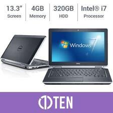 Dell Latitude 13 E6330 E6230 Intel i7 3.60GHz 4GB RAM 320GB HDD Notebook Laptop