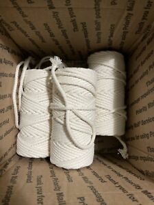 White, 3mm /& 328 Feet Wall Hanging Plant Hanger Craft Making Supply Ialwiyo 3mm 328ft 4 Strand Softer Colorful Cotton Macrame Cord Rope  Twisted Craft Macrame String DIY Home Textile Decorative