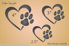 Pet STENCIL Heart Paw Print Dog Track Love Animals Kennel Sign Work Home Decor