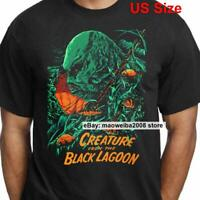 Creature from the Black Lagoon Movie T-Shirt Vintage Horror Shirt Men Black Tee