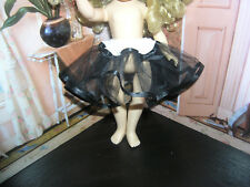 "Black Nylon Net Slip Petticoat Crinoline 14"" Doll clothes fits Ideal Toni P-90"