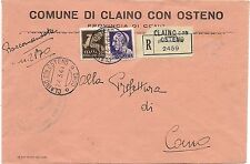 P6140   Como,Claino con Osteno, RSI, raccomandata per Como 1944