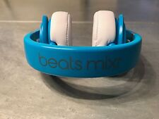 Beats by Dr. Dre Mixr Headband Headphones - Neon Blue, Excellent Condition