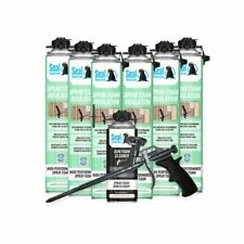 Seal Spray Closed Cell Insulating Foam Can Kit Withgun Applicatorampcleaner 150 Bf
