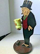 Mr Jiggs 1930's comic book figure with Akro Agate match holder