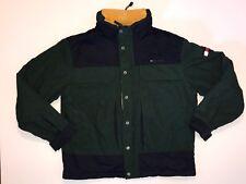 Tommy Hilfiger Jacket Men's Size XL Hidden Hood Buttons Zipper Big Flag Logo