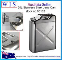 20L 304 Stainless Steel Jerry Can Fuel Tank Petrol Canister Oil Container,0.8mm