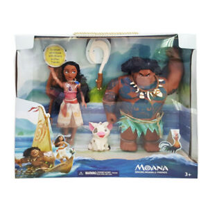 Disney Singing Moana Maui Fishhook & Friends Doll Action Figures Kids Play Toy