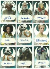 2017 Topps Star Wars The Last Jedi Auto Autograph Card - YOU PICK
