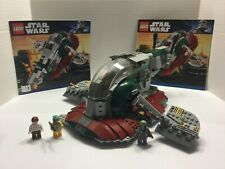 Lego Star Wars SLAVE I #8097 100% Complete with minifigs and manuals