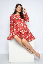 Ladies Women's Christmas Novelty Fun Christmas Swing Dresses Party Occasion