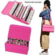 Pink Bag Marker Case 80 Slots & Copic Marker Carrying for Primascolor Marker Art
