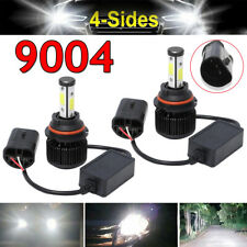 Cool White 4Sides 9004 LED Headlight Conversion Kit Canbus Hi/low Beam 2150000LM