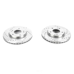 Power Stop for 07-10 Hyundai Elantra Front Evolution Drilled & Slotted Rotors -