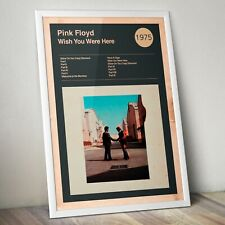 More details for pink floyd print, wish you were here print, pink floyd poster, rock band poster