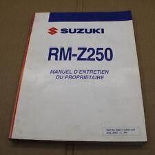 MANUEL REVUE TECHNIQUE D ATELIER SUZUKI RM-Z 250 2008 K8->250rmz EN FRANCAIS RMZ