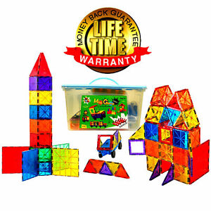 Magnet Tiles Magna Award Winning Building Magnetic toy 199/pc +Storage Container