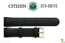 Citizen Eco-Drive AT0908-12F Black Rubber Watch Band Strap AT0980-04B S065411