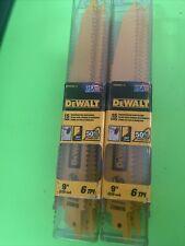 """(2)DEWALT 15-Pack 9"""" 6-TPI Demolition Reciprocating Saw Blade DWAR966-15"""