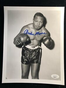 Archie Moore Signed Autographed B&W Photo JSA - World Champion Light Heavyweight