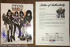 KISS signed Hottest Show Tour 8x10 Meet & greet photo by all 4 PSA DNA COA LOA