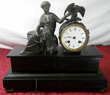 ancienne pendule marbre régule style Napoléon III / pendulum 1890's BULLE CLOCK