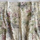 2+Vtg+PINCH+PLEAT+Shabby+Chic+BARKCLOTH+Curtains+26%22+W+X+73.5%22+L++Floral+GARDENS