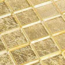 Glasmosaik Fliesen Mosaik Condor Gold Mosaikfliesen Effekt 8 mm