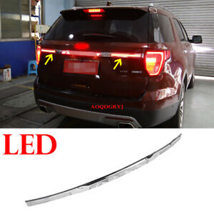 For Ford Explorer Car Rear Door Tailgate Trunk Molding Trim Strip W/LED Replace