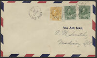 1928 AAMC #2863 Variety, Clarke City to Seven Islands, Roessler Envelope, Tear