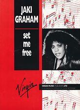 Set Me Free - Jaki Graham - 1986 Sheet Music