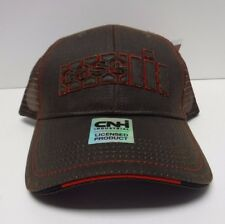 Case IH  Leather Mens Cap with Mesh Back