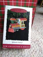 Hallmark keepsake Yuletide Central engine, trains, ornament 1994 in box